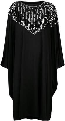 MM6 MAISON MARGIELA sequin trim cape dress