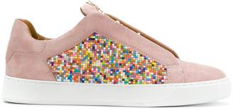 Dioniso Black multicolour coated sneakers