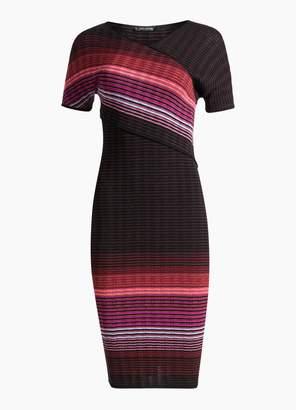 St. John Ombre Rib Knit Dress
