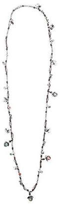 Uno de 50 Jungle Silver and Leather Charm Necklace