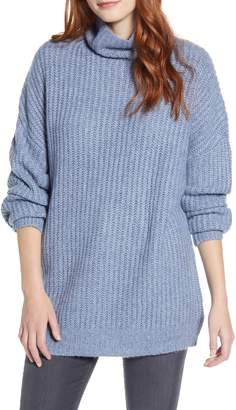 Press Oversize Turtleneck Long Sweater
