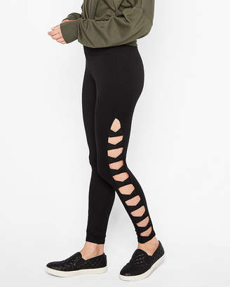 Express One Eleven High Waist Supersoft Cut-Out Side Leggings