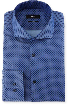 Boss Hugo Boss Slim-Fit Dot Dress Shirt, Denim $215 thestylecure.com