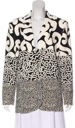 Norma Kamali Printed Structured Blazer