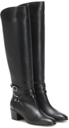 Jimmy Choo Huxlie 45 leather knee-high boots