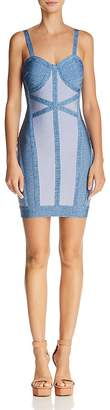 Wow Couture Color-Block Body-Con Dress
