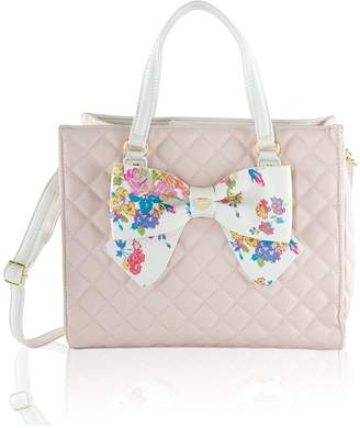 Betsey Johnson Bag in Bag Satchel Tote With Pouch