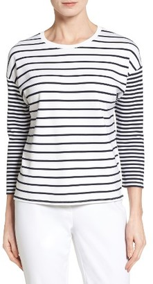 Women's Nordstrom Collection Stripe Knit Top $149 thestylecure.com