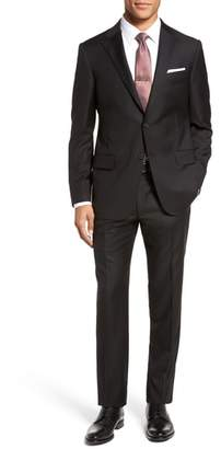 Hickey Freeman Modern H Fit Solid Loro Piana Wool Suit
