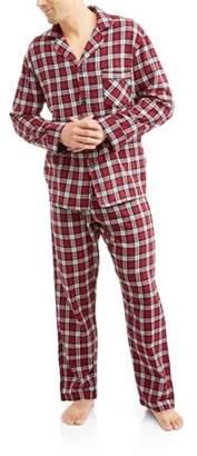 Hanes Big Men's Flannel Pajama Set