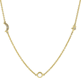 Monica Rich Kosann Opal Sun Moon Star Wrap Necklace