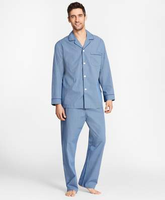 Brooks Brothers Micro-Ground Check Pajamas