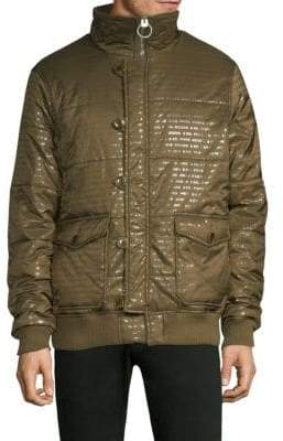 PRPS Institute Stand Collar Quilted Jacket