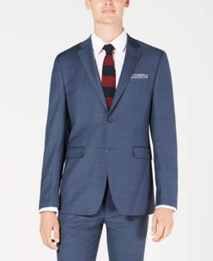 Original Penguin Men's Slim-Fit Sharkskin Solid Suit Jacket