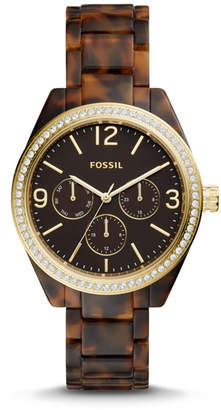 Fossil Caleigh Multifunction Tortoise Acetate Watch
