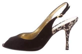 Beverly Feldman Suede Slingback Sandals
