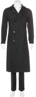 Chanel Striped Wool Coat
