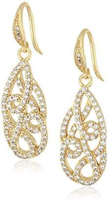 Carolee Floral Lace-Bridal/Prom Tone Tear Pierced Drop Earrings