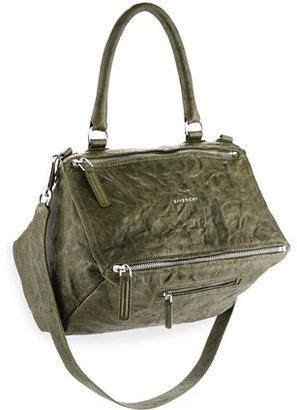 Givenchy Pandora Medium Old Pepe Shoulder Bag, Army Green $1,940 thestylecure.com