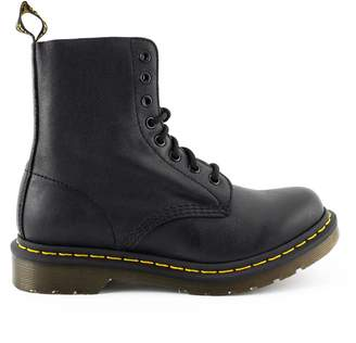 Dr. Martens Black Grained Leather Ankle Boot.