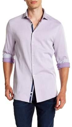 Michelson's Purple Texture Slim Fit Shirt