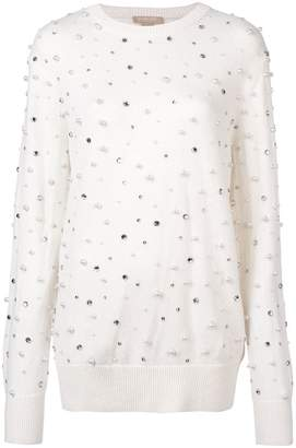 Michael Kors rhinestone scattered jumper