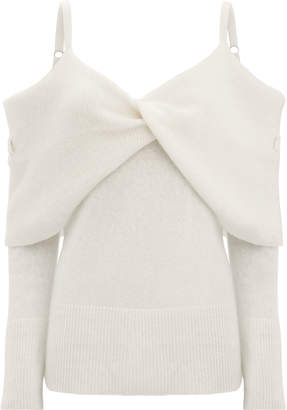 ADAM by Adam Lippes Cold Shoulder Cashmere Sweater