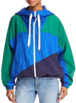 KENDALL + KYLIE Color-Block Windbreaker Jacket