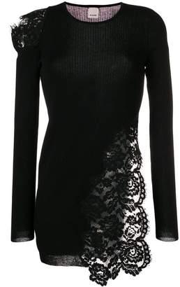 Pinko lace-panelled sweater