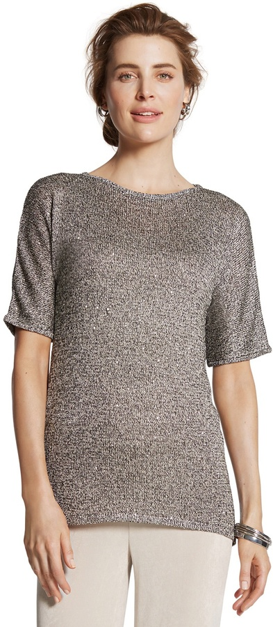 Chico's Collection Sequin Sweater