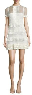 RED ValentinoRED Valentino Ruffle Point D'Esprit & Lace Dress