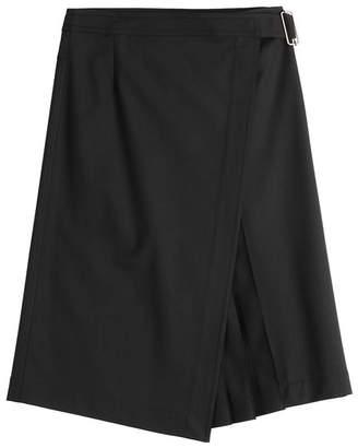 Jil Sander Navy Skirt with Virgin Wool
