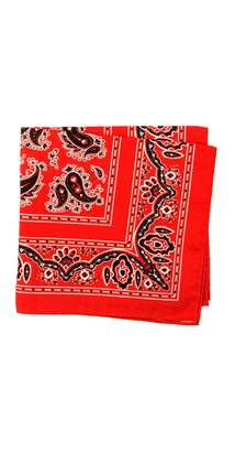 J.Mclaughlin Italian Cotton Pocket Square In Bandana Paisley