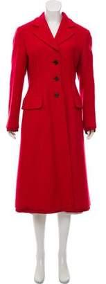 Prada Long Notch-Lapel Coat