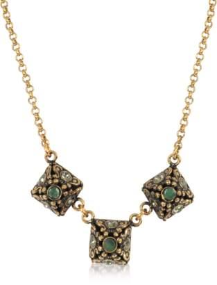 Alcozer & J Pyramid Necklace w/Semi Precious Stones