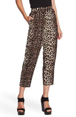 Vince Camuto Elegant Stripe Leopard Crop Pants