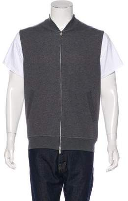 Brunello Cucinelli Woven Zip-Up Vest