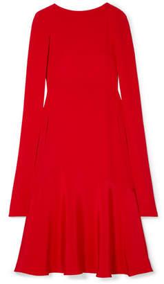 Calvin Klein Cape-effect Silk-cady Midi Dress - Red
