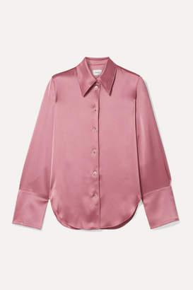 Nanushka Madine Satin Shirt - Antique rose