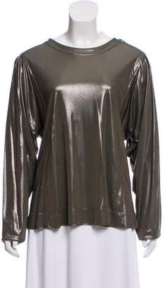 Balenciaga Metallic Long Sleeve Top