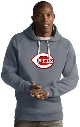 Antigua Men's Cincinnati Reds Victory Logo Hoodie