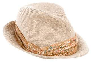 Eugenia Kim Sequin-Embellished Straw Hat