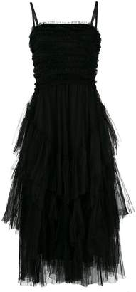 RED Valentino tulle ruffled dress