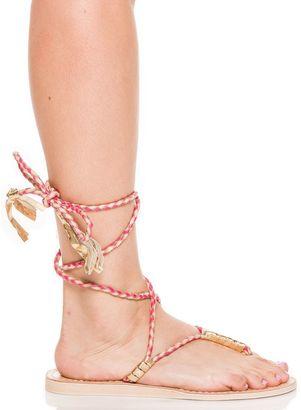 L Space X Cocobelle Gili Wrap Sandals $119 thestylecure.com