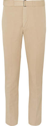 Tan Slim-Fit Garment-Dyed Cotton And Linen-Blend Suit Trousers
