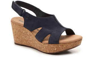 0159fe52a6e Clarks Cork Wedge Women s Sandals - ShopStyle