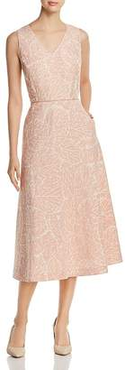 Lafayette 148 New York Jayda Linen Jacquard Midi Dress