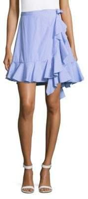 J.W.Anderson Stripe Ruffle Mini Skirt