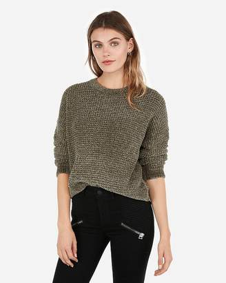 Express Velvet Thermal Crew Neck Sweater