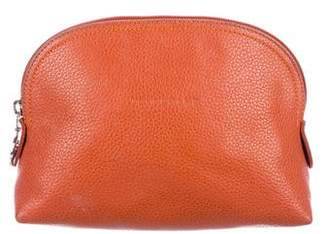 Longchamp Mini Leather Cosmetic Pouch